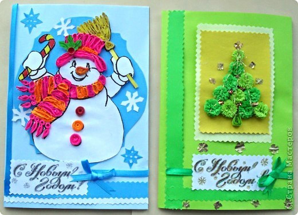 Страна мастеров открытки новогодние своими руками